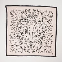Hide & Seek Big 5 Cream Silk Scarf SCARF006